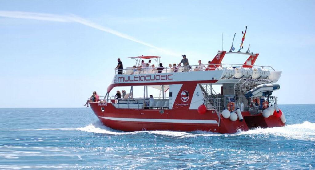 utazás, Gran Canaria, Programok magyarul, Bálna- és Delfinles Katamaránnal, 2