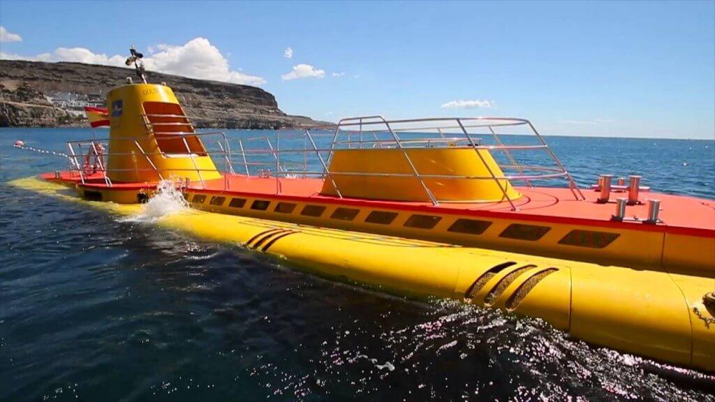 Kanári-szigetek utazás, Gran Canaria, Programok magyarul, Tengeri élővilág Megfigyelése Tengeralattjáróval, 1