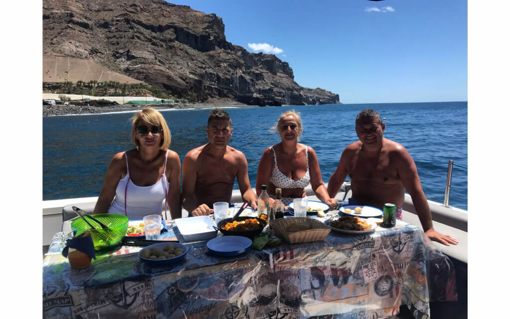 nyaralás, Gran Canaria, Programok magyarul, Luxus Katamarán Túra Naplementében, 4