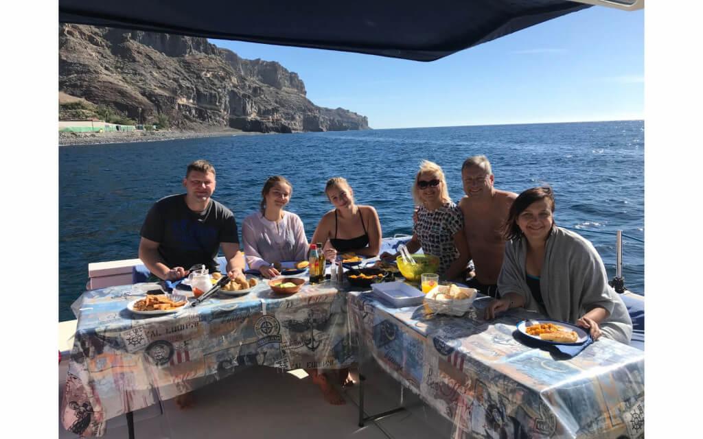 utazási ajánlatok, Gran Canaria, Programok magyarul, Luxus Katamarán Túra Naplementében, 2
